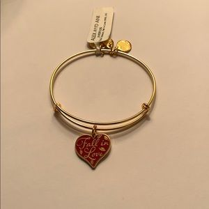 "Alex and Ani ""Fall In Love"" Bangle Shiny Gold"